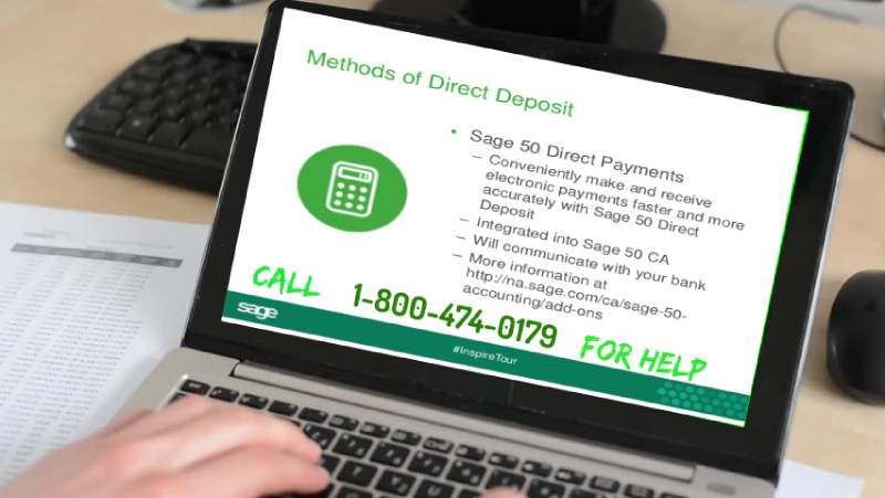 Sage 50 Direct Deposit Setup
