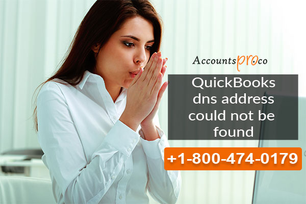 QuickBooks DNS address could not be found