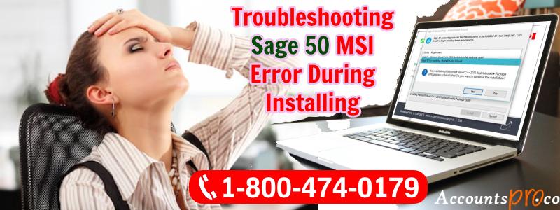 Sage 50 MSI Error