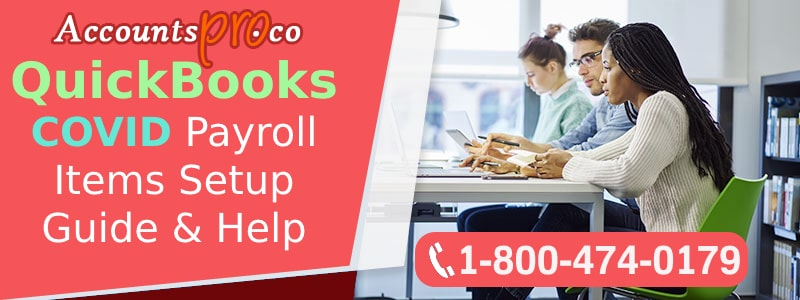 QuickBooks COVID Payroll Items