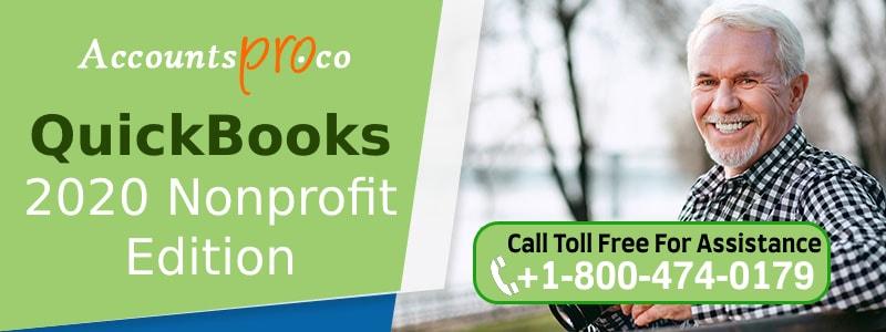 QuickBooks NonProfit 2020 Year Edition