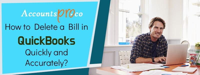 Delete Bill In QuickBooks