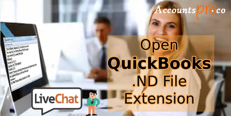 Open QuickBooks .ND File Extension