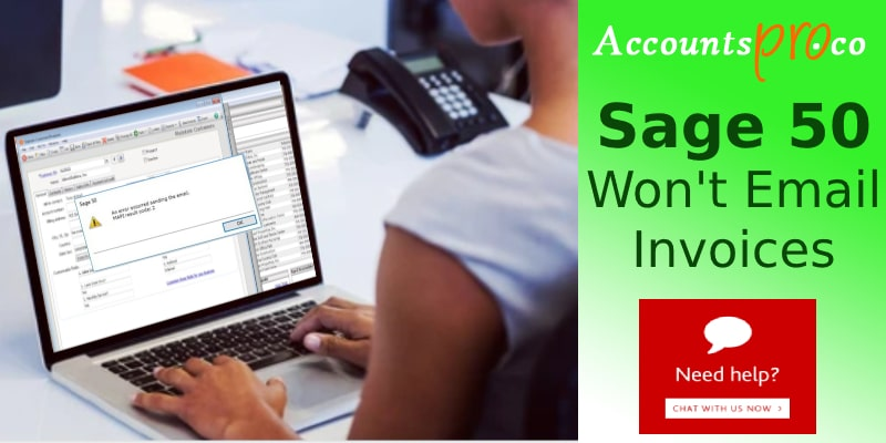 Can't Send Email Invoices To Customer Sage 50