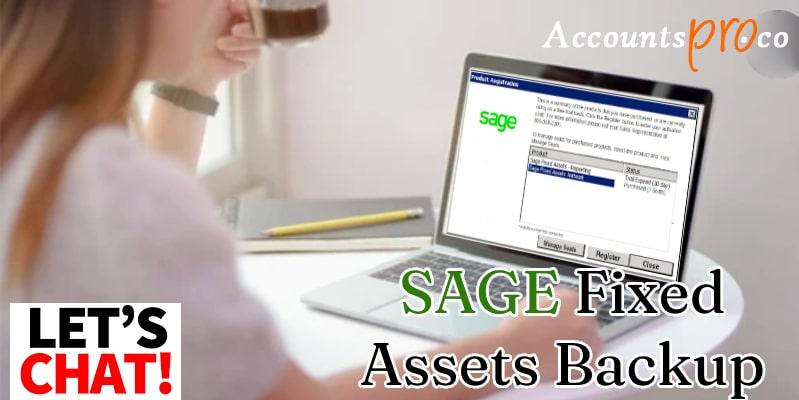 Taking Backup Sage Fixed Assets