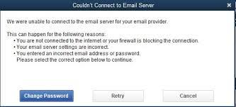 Can't Connect To Email Server