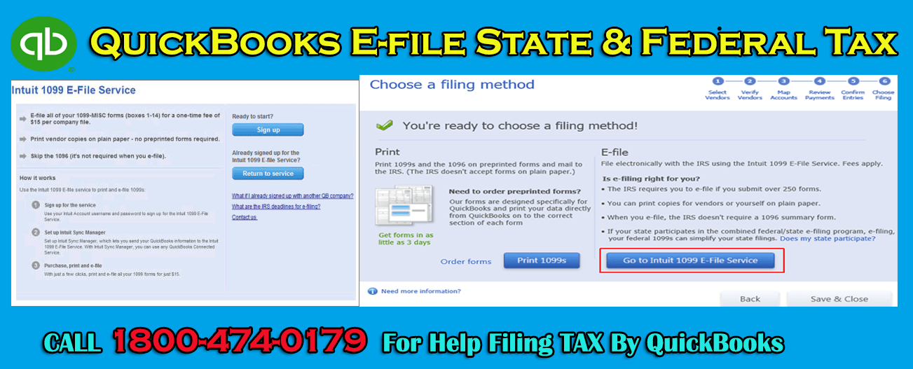 QuickBooks File Form - Efile Year End Business/ Corporate Tax